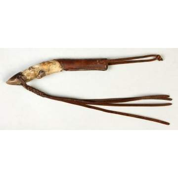 Deer Leg Quirt w/Leather Strap