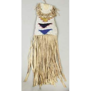 Ute Beaded Hide Tobacco Bag