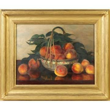 J. Watson, Still life of peaches