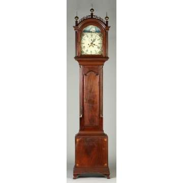 Roxbury Inlaid Mahogany Tall case Clock