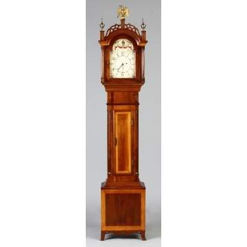 Bench Made Hepplewhite Style Grandmother Clock