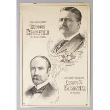Vintage Presidential Poster of Roosevelt & Fairbanks