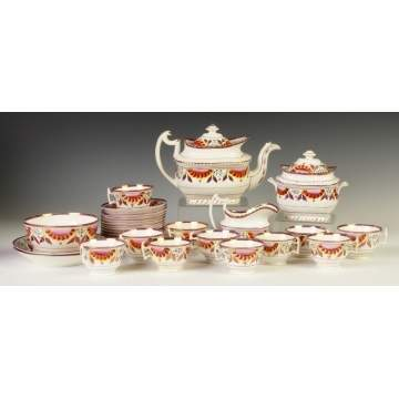 Pink Lustre Tea Set