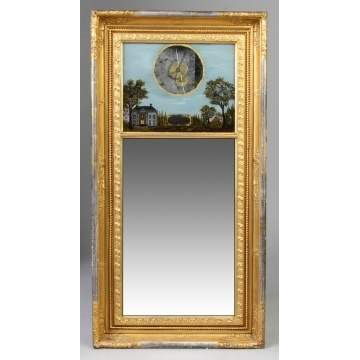 Ives Gilt Front Mirror Clock