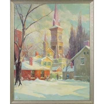 "Clifford Ulp (New York, 1885-1957) ""After the Snowstorm"""