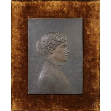 J. Guernsey Mitchell (Rochester, NY, 1854-1921) Bronze Plaque of a woman