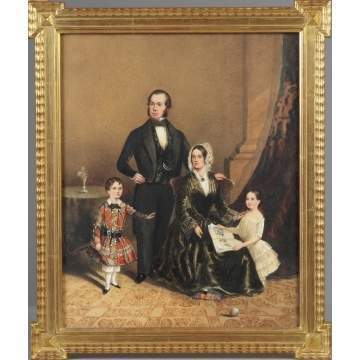 W. Greenlees 1852 Family Portrait