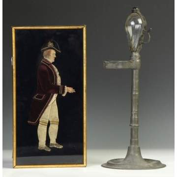 Paper & Cloth Gentleman & Oil Lamp
