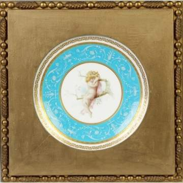 Minton Hand Painted Porcelain Plate w/young girl