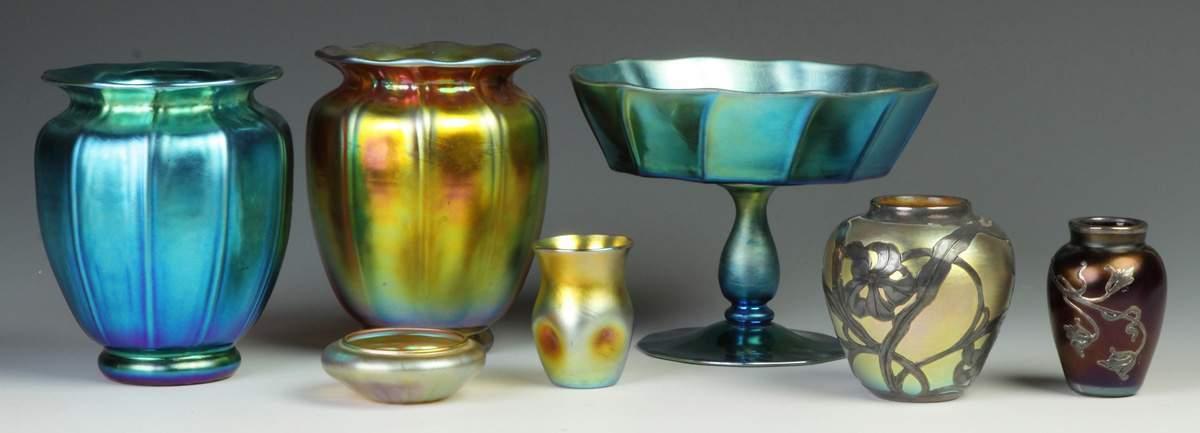 Steuben Blue Aurene Vase Cottone Auctions