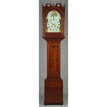 New England Country Cherry Tall Case Clock