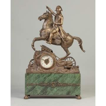 Napoleon on Horseback Clock