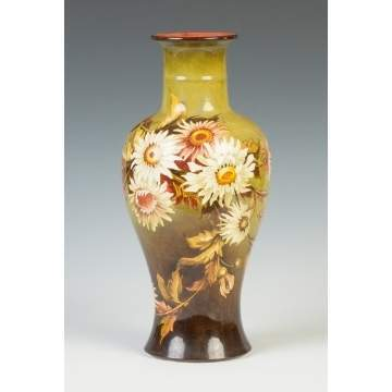Royal Doulton Hand Painted Floral Vase
