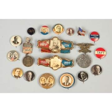 Group of Vintage Campaign Buttons & Pins