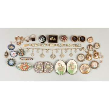 Group of Vintage Various Victorian Jewelry