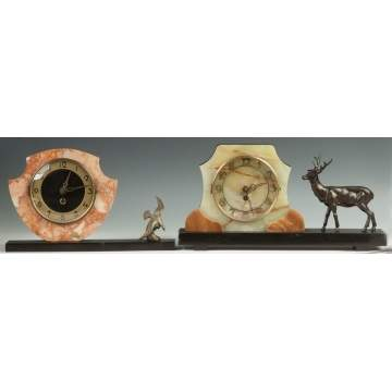 Two Art Deco Clocks