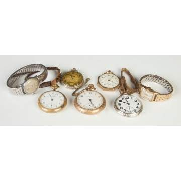 Group of Vintage Pocket Watches  & Wrist Watches