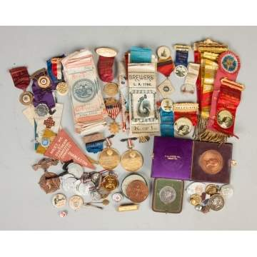 Group of Vintage Commemorative Ribbons & Medals