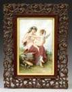 Painting on Porcelain of Cupid & Nude