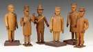 Six Carved & Articulated Wood Folk Art Figures