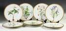Set of Eleven Bavarian Hand Painted Porcelain Plates w/Flowers