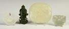Chinese Carved Jade Pendant, Immortal & Plaques