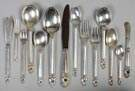 International Sterling Silver Flatware Set - Royal Danish Pattern