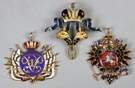 Three Russian Gold & Enamel Medals
