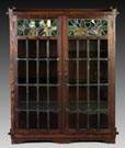 Limbert Two Door Bookcase, Rare & Early