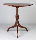Hepplewhite Tilt Top Mahogany Candle Stand