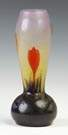 Fine Daum Nancy Art Glass Vase with Floral Decoration