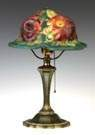 Pairpoint Puffy Rose Closed Top Table Lamp