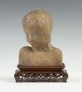 John Flannagan (American, 1895-1942) Poured Stone Bust
