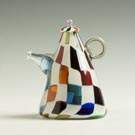 "Richard Marquis (American, B. 1945) ""Crazy Quilt"" Glass Teapot Form"