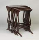 Oriental Lacquered Nesting Tables