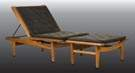 Hans Wegner (Danish, 1914-2007) Getama Teakwood Adjustable Lounge Chair & Ottoman