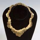 Ed Wiener 18K Gold Hinged Necklace