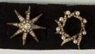 Two Vintage Gold & Pearl Brooches