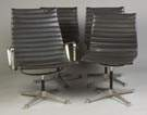 Four Charles and Ray Eames Aluminum Lounge Chairs for Herman Miller