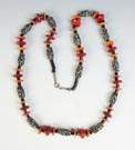 Ronald Hayes Pearson (American) Silver & Stained Bone Necklace