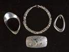 Four Pieces Ronald Hayes Pearson (American)  Sterling Silver Jewelry