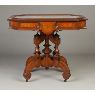 New York Victorian Marble Top Table