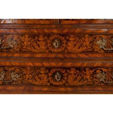 Italian Serpentine Inlaid Chest