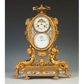 Fine Archile Brocot, Rue D'Orleans, Paris, Shelf Clock