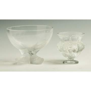 Two Pieces Lalique Glass