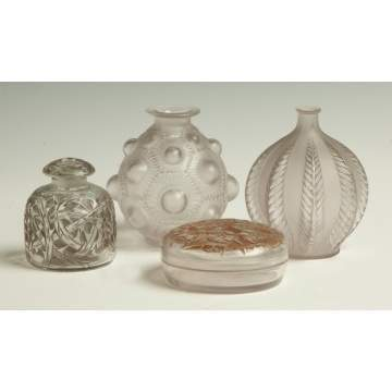 Four Pieces Lalique Glass