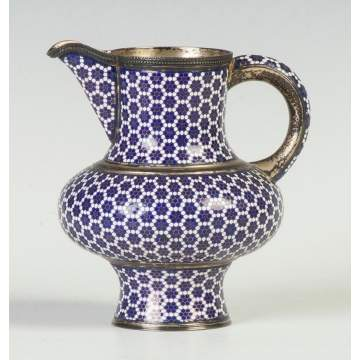 Fine Russian Enameled Silver Pitcher