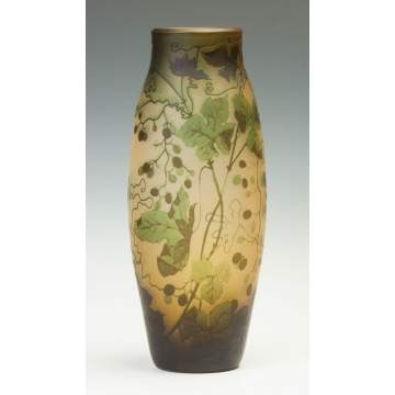 Galle Cameo Vase, Monumental