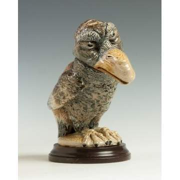 Martin Brothers Glazed Stoneware Bird Tobacco Jar