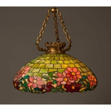 Duffner & Kimberly Leaded Glass Hanging Fixture